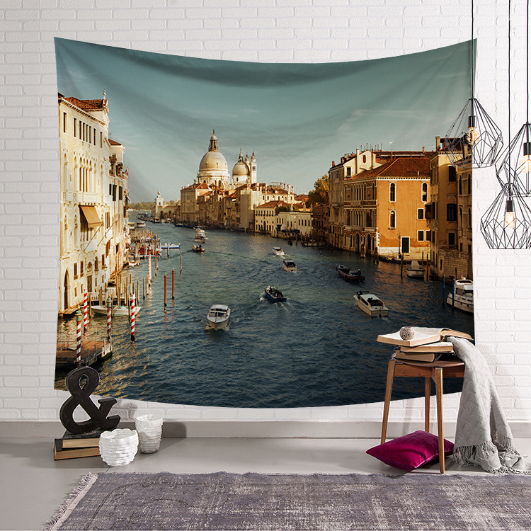 Image 2 - CAMMITEVER European Castle Church Architecture Tapestry House Building Wall Hanging Couch Decor Beach Blanket-in Tapestry from Home & Garden