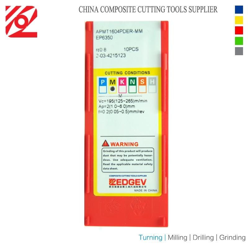 Купить с кэшбэком EDGEV APMT1604 PDER MM M2 Milling Carbide Inserts Indexable End Mill Cutter CNC Machine use for BAP400R Tool Holder