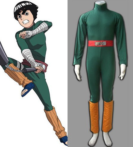 Naruto Shippuuden Rock Lee Cosplay Party Costume Set