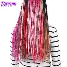 Beyond beauty Омбре серые розовые волосы Сенегальские накрученные волосы крючком синтетические накладные волосы кроше плетение волос