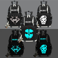 New Call Of Duty Ghost Luminous Backpack Glow in Dark Schoolbag Bag For School Boys Girls Student