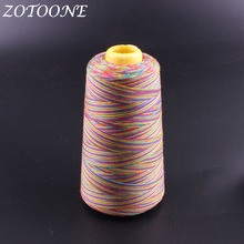 ZOTOONE Rainbow Color Polyester Sewing Thread Hand Quilting Embroidery For Home DIY Accessories Supplies E