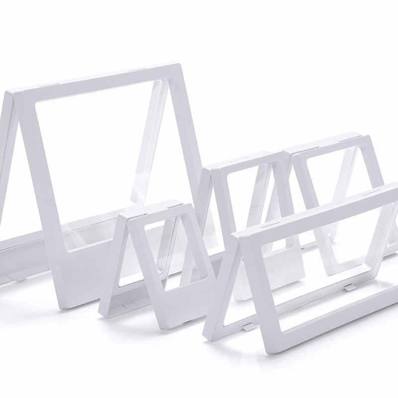 3D 浮上額縁シャドーボックスジュエリーディスプレイスタンドリングペンダントホルダージュエリー石プレゼンテーションケース