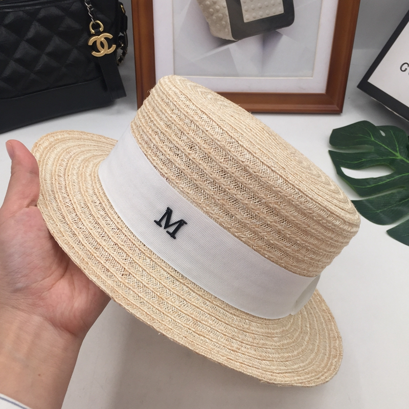 Fine linen lafite summer grass ceiling short brim hat M hat female sun hat  small pure and fresh and prevent bask in travel 431ea294eebc