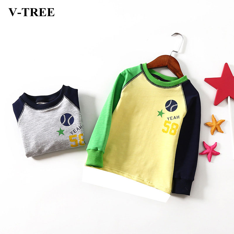 Spring Children Sweatshirt Long Sleeve Sweatshirts For Kids Sport Boys T-shirt 2-8Y Baby Shirts School Baby Tops