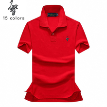 2018 summer polo Knitted fabric Breathable cotton Fashion Brand New Men's Polo Shirt Men Cotton Short Sleeve polo
