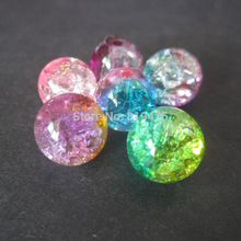 30Pieces  8 10mm Glass Beads Round Crack Beads Mix Colors  Fashion beads for jewelry making Multi-color