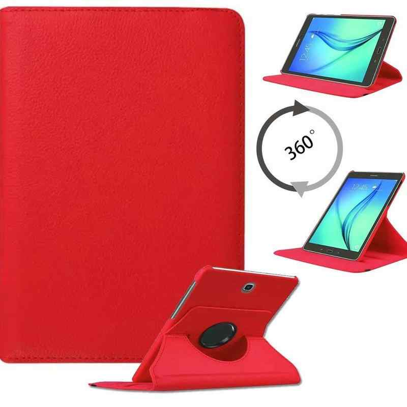 Flip Pu Leather Cover voor Samsung Galaxy Tab S2 8.0 inch 360 Rotating Stand Case Tab S2 8.0 SM-T710 T715 t713 Tablet Gevallen Glas
