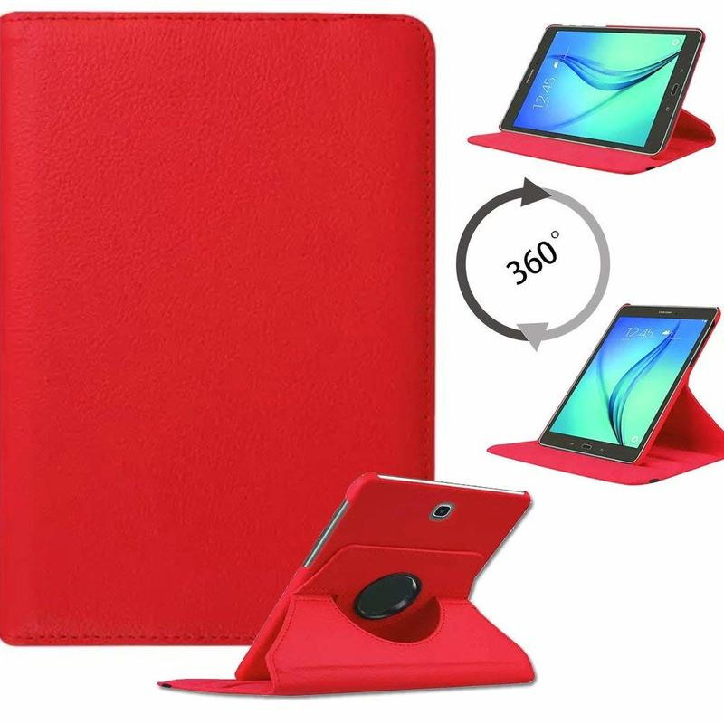 Flip Pu Leather Cover For Samsung Galaxy Tab S2 8.0inch 360 Rotating Stand Case Tab S2 8.0 SM-T710 T715 T713 Tablet Cases Glass