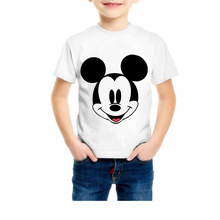 2019 New Summer Children Cartoon Mickey Print T Shirt Baby Boy Clothes Girl Short Sleeve T-Shirt Kid Top Tee Baby O-Neck Costume цена 2017