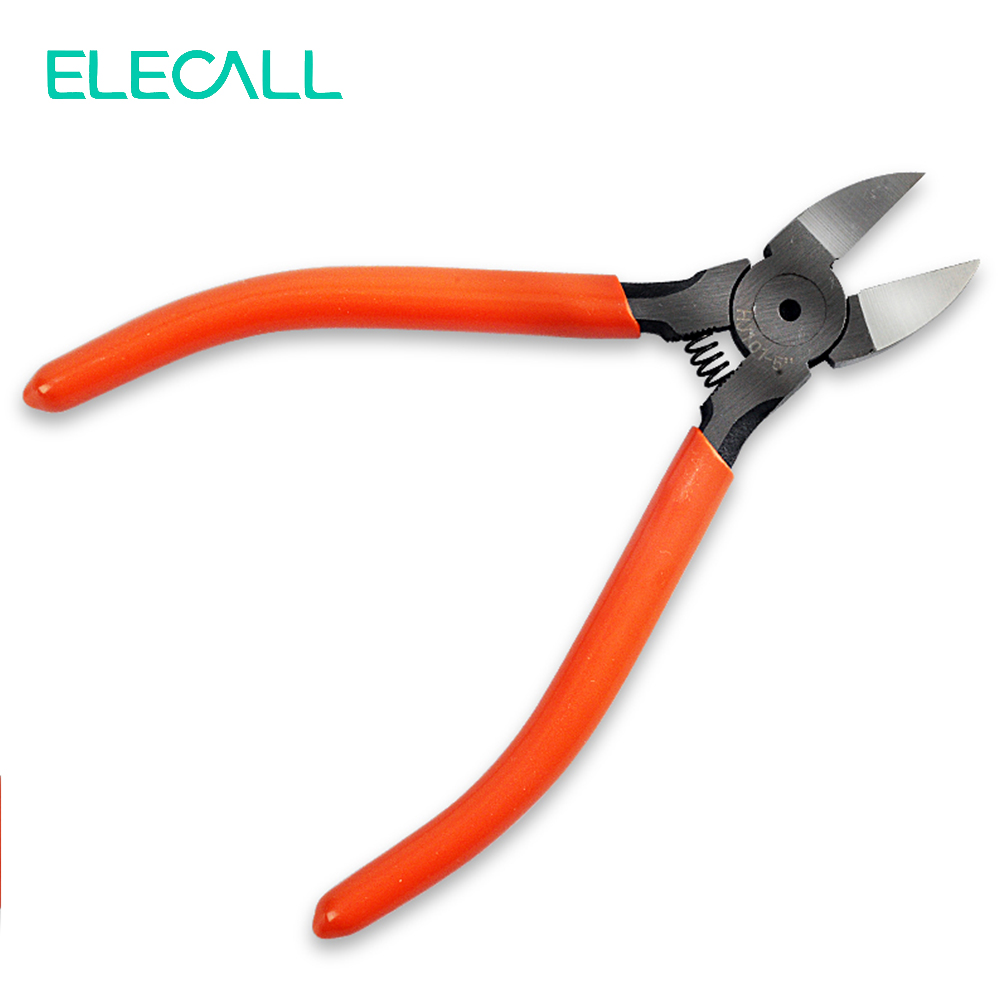 ELECALL Mini Side Cutters 5 Or 6 Inches Cut Line Pliers Oblique Nose Pliers Utility Pliers Diagonal Pliers Wire Nipper