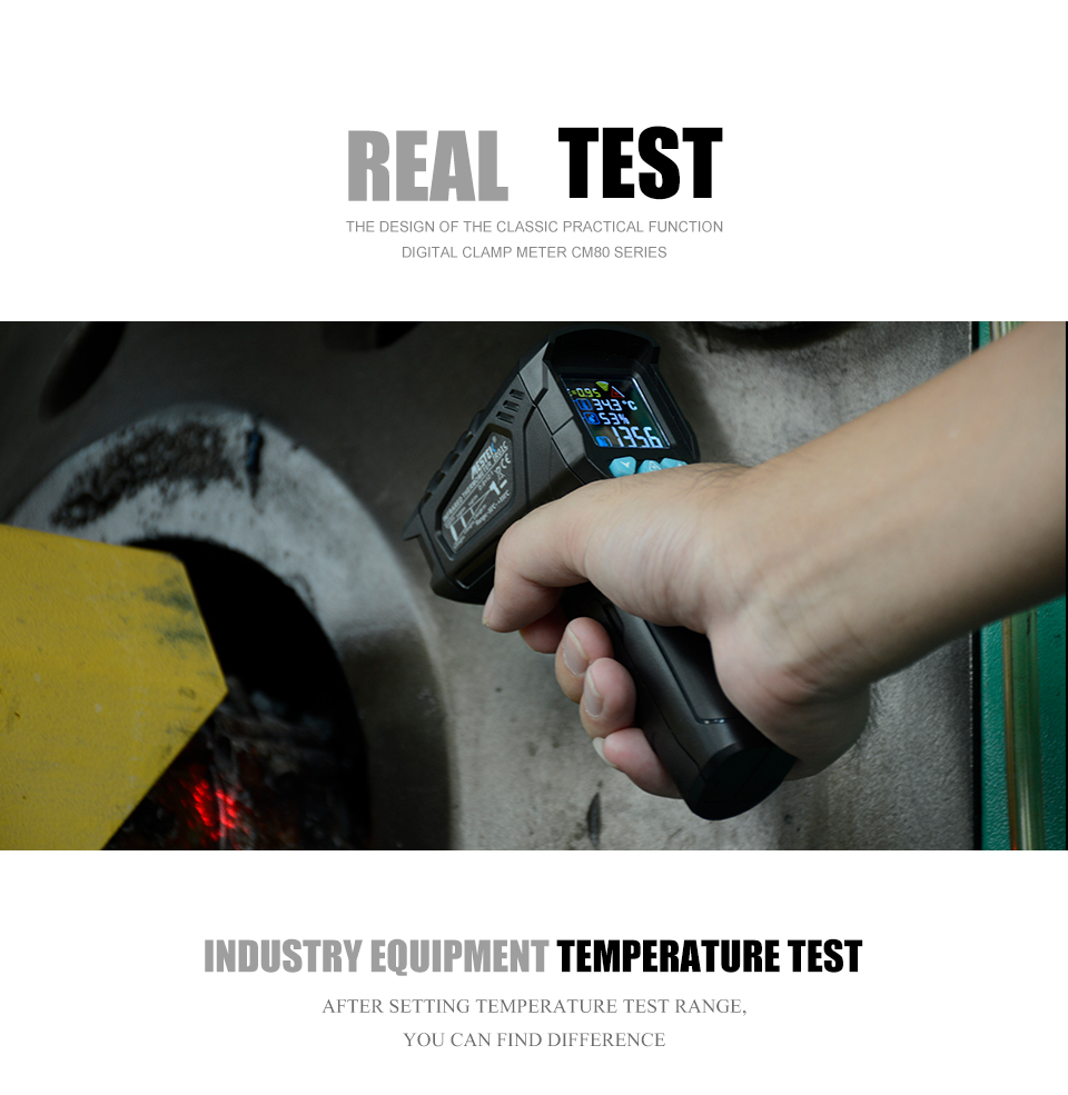 MESTEK Non Contact Infrared Thermometer with 50 to 800C Temperature Range and Alarm 16