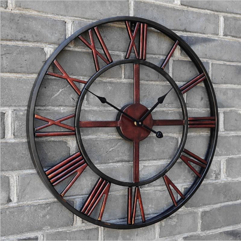 Wrought Iron Wall Clocks Large