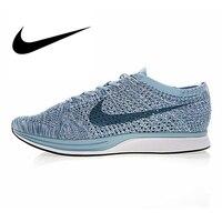 Nike Flyknit Racer для мужчин's бег обувь дышащая Спортивная Открытый Спортивная обувь на шнуровке стабильность обувь дизайнер спортивной 526628