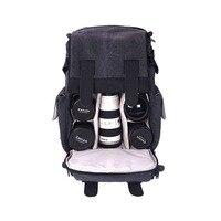 CADEN Backpacks Camera Canvas Black Photo Bags Shoulders Big Bag M5 For Men Women Brief Digital