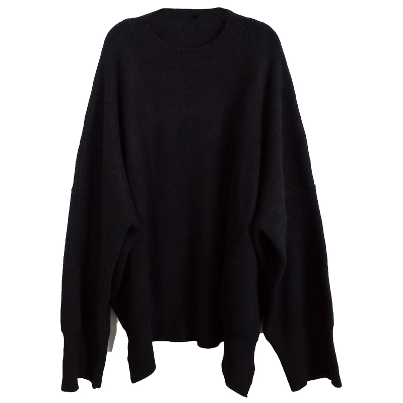 [EAM] 19 New Spring O Collar Full Sleeve Loose Casual Asymmetrical Large Size Kintter Puffover Women Fashion Tide OB275 8