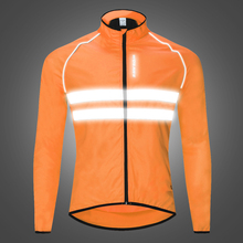 WOSAWE High visibility Reflective Jacket Motorcycle mtb Motocross Jacket Windbreaker Wind Coat Men Women Waterproof Safety wosawe cycling windbreaker jacket cycling motocross riding outwear lightweight waterproof coat mtb bike jersey reflective coat