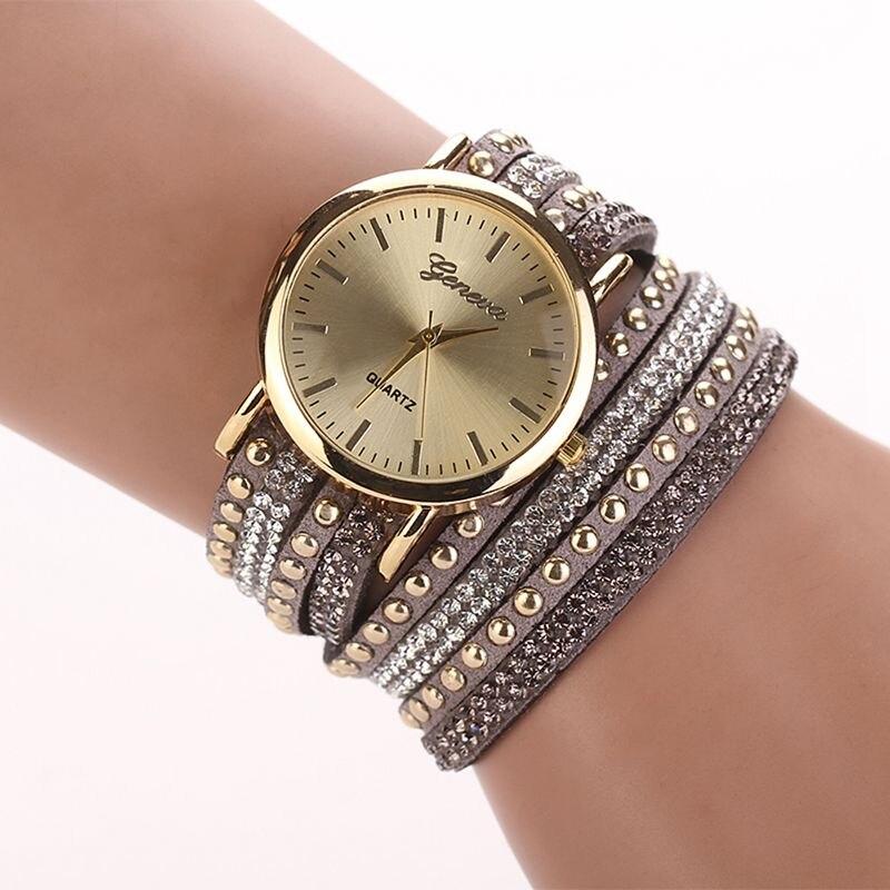 New Brand Fashion Women Bracelet Watch Quartz Gift Watch Wristwatch Women Dress Leather Casual Bracelet Watches