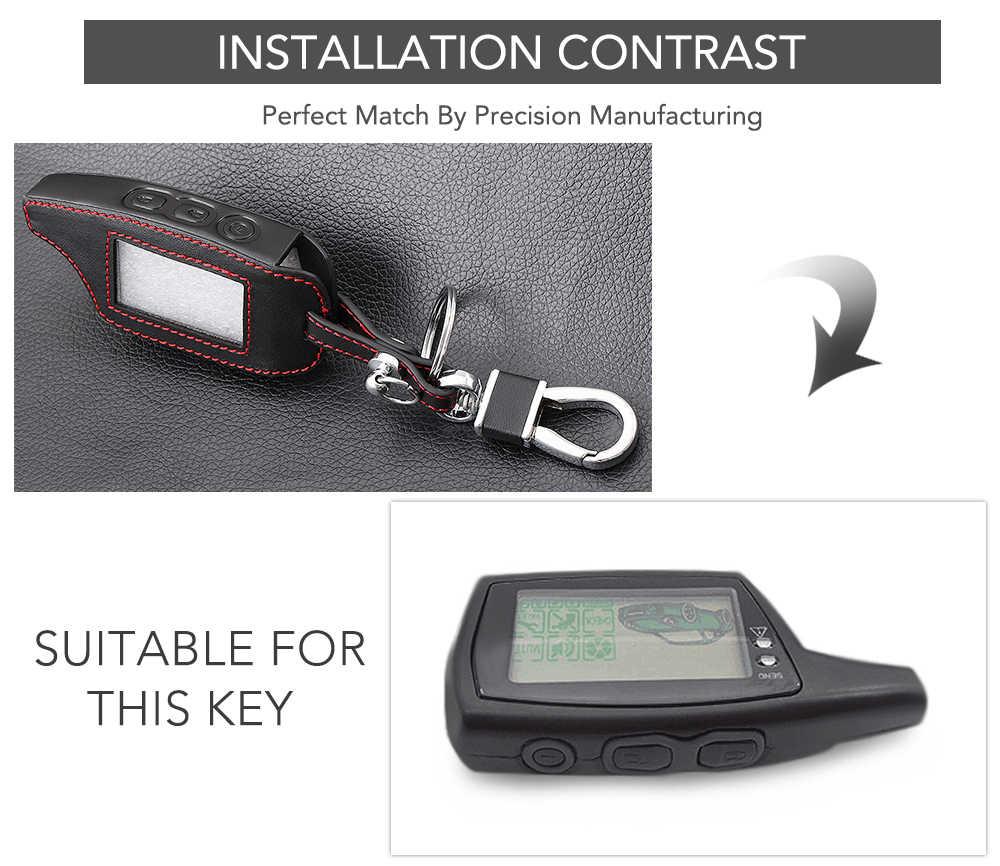 Кожаный чехол для ключей DXL 3000, брелок для автомобильной сигнализации Pandora DXL3000 DXL3100/3170/3210/3250/3290, пульт дистанционного управления с ЖК-экраном