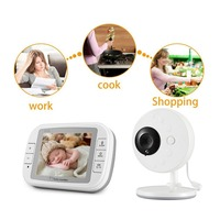 3 5 Inch Wireless Video Color Baby Monitor High Resolution Baby Nanny Security Camera Night Vision