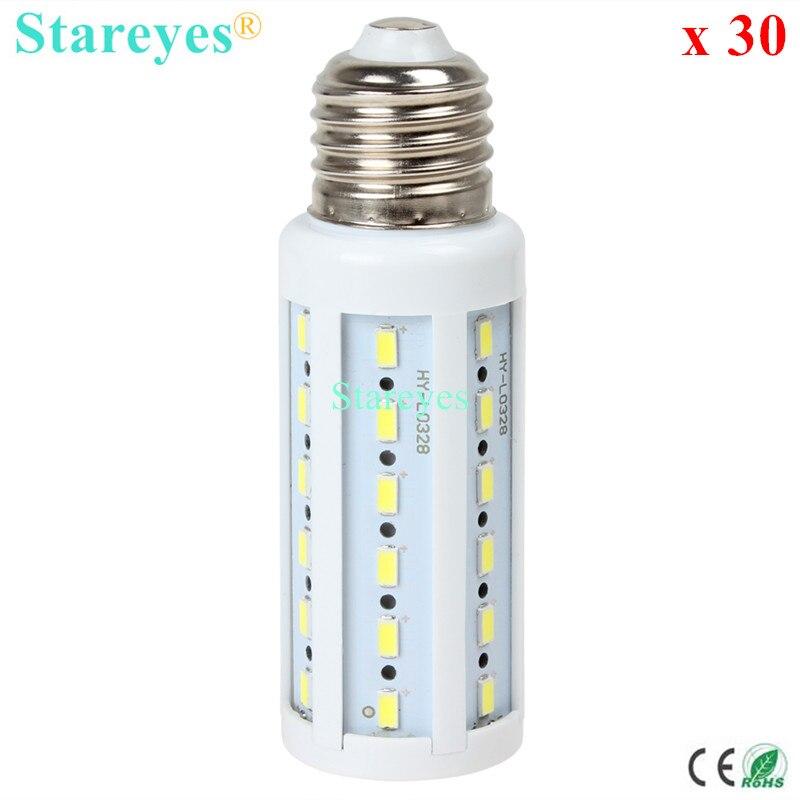 30 шт 12 W 42 светодиодный 5630 5730 SMD E27 E14 B22 светодиодный Кукуруза лампочка лампа светодиодный потолочный светильник освещения Теплый/Холодный белый