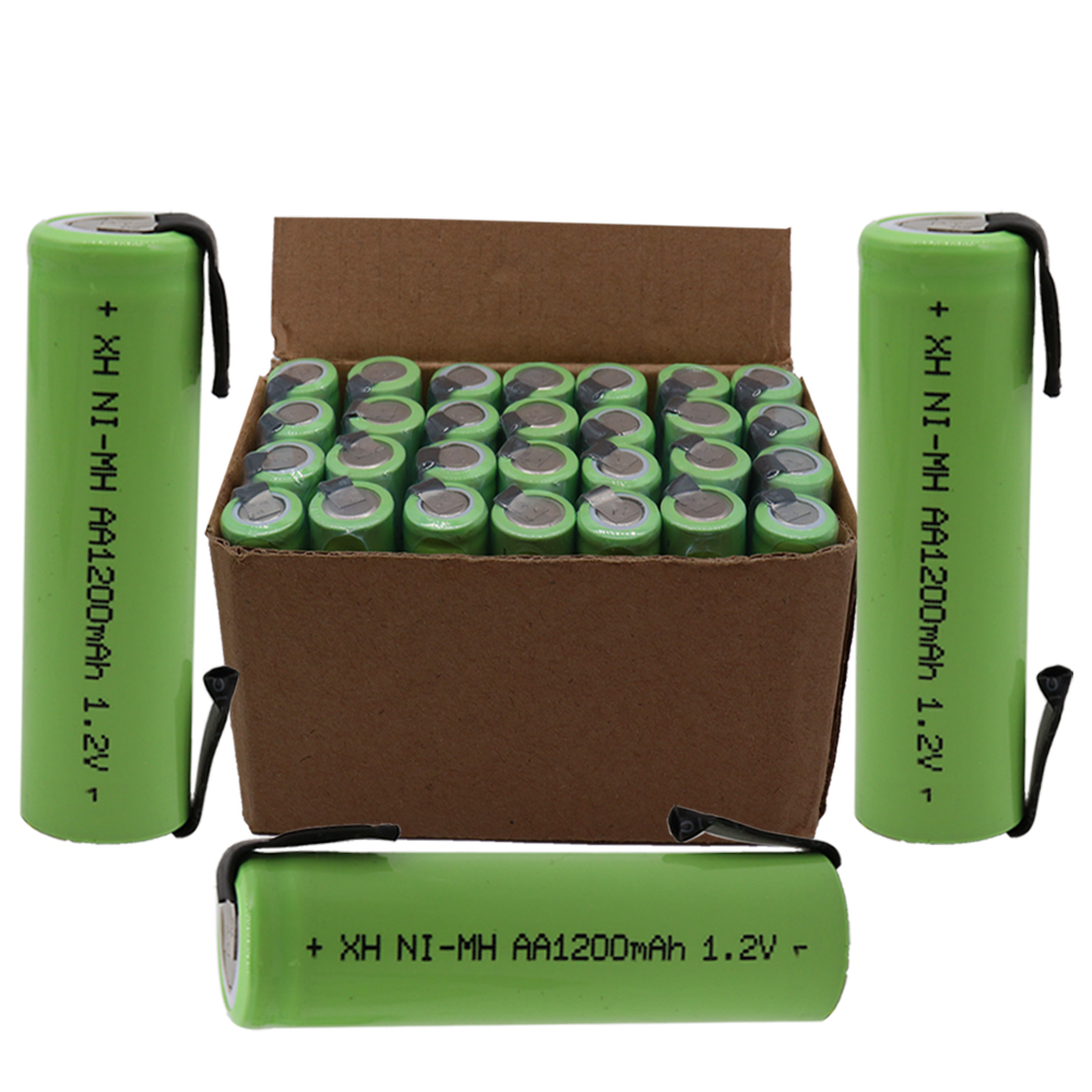 4/8/12/20 PCS AA Rechargeable Battery 1.2V 1200mAh Ni-MH Battery With Welded Nickel Plate Needle DIY Electric Shaver Battery