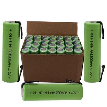 4 8 12 20 sztuk akumulator aa 1 2V 1200mAh Ni-MH bateria ze spawaną taśma niklowa igła DIY golarka elektryczna bateria tanie i dobre opinie PINTTENEN 1200 mAh KAA1200 MAH Baterie Tylko 4-20PCS Pakiet 1