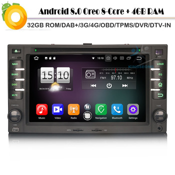 Octa-Core Android 8.0 Autoradio Sat Nav DAB+Radio 4G DVD BT GPS USB DVR Car Multimedia player for KIA CEED Sportage Rio Sorento image