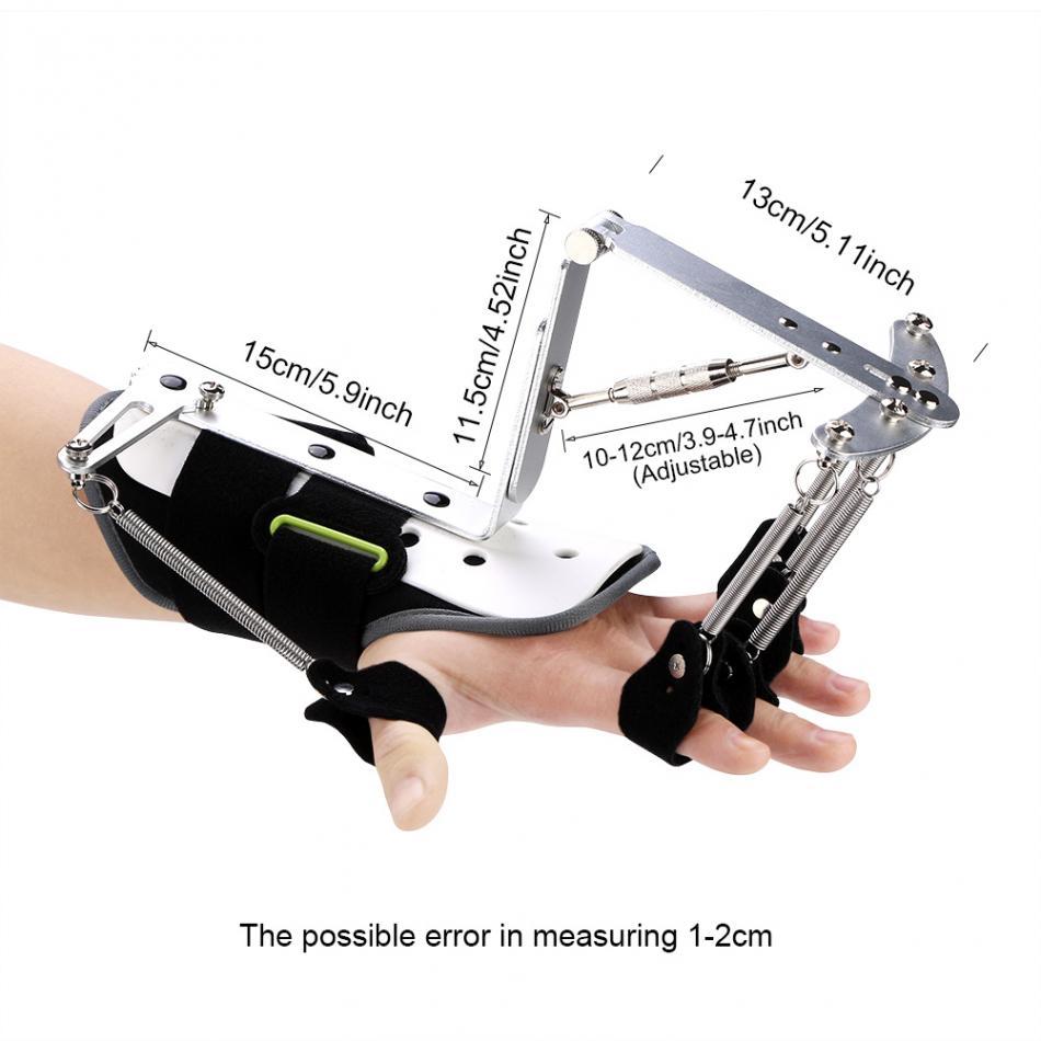 OPER Adjustable Finger Splint Protector Medical Wrist Orthotics Rehabilitation Trainer Tendons Exercise for Stroke Hemiplegia