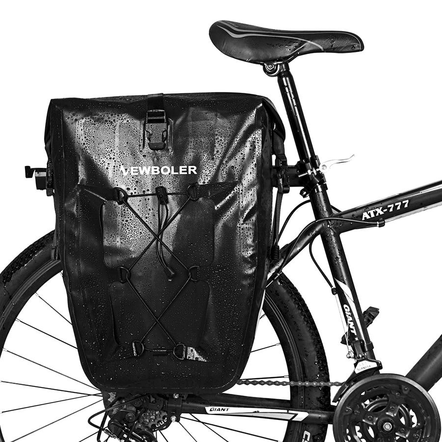 NEWBOLER 27L Waterproof Bike Bag Bicycle Rear Rack Pannier Cycling Carrier Bag Seat Saddle Rear Tail