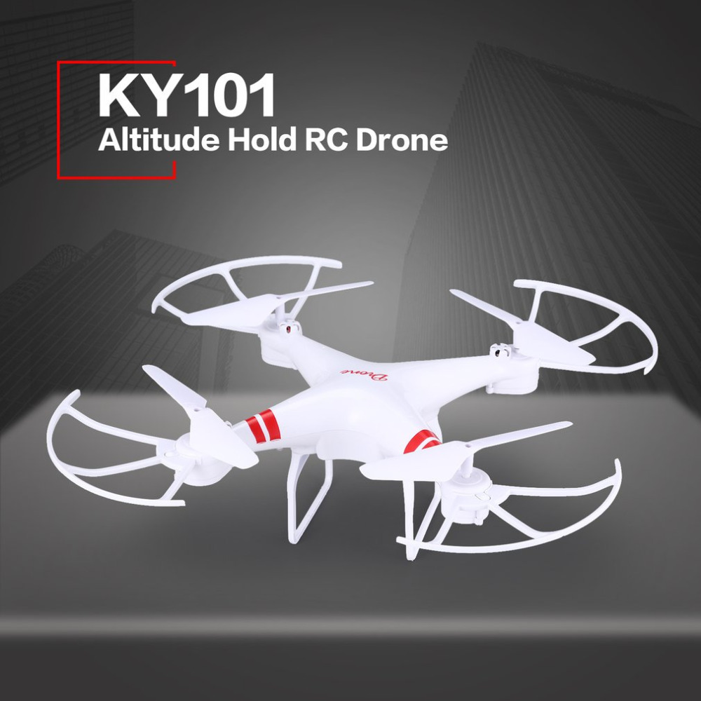 KY101 Altitude Hold Drone Headless Mode 3D Flips One Key Return Take off/Landing Hovering H/L Speed Switch RC Quadcopter leadingstar 2018 world cup football foldable rc drone 3d flips one key take off landing headless rc quadcopter helicopter