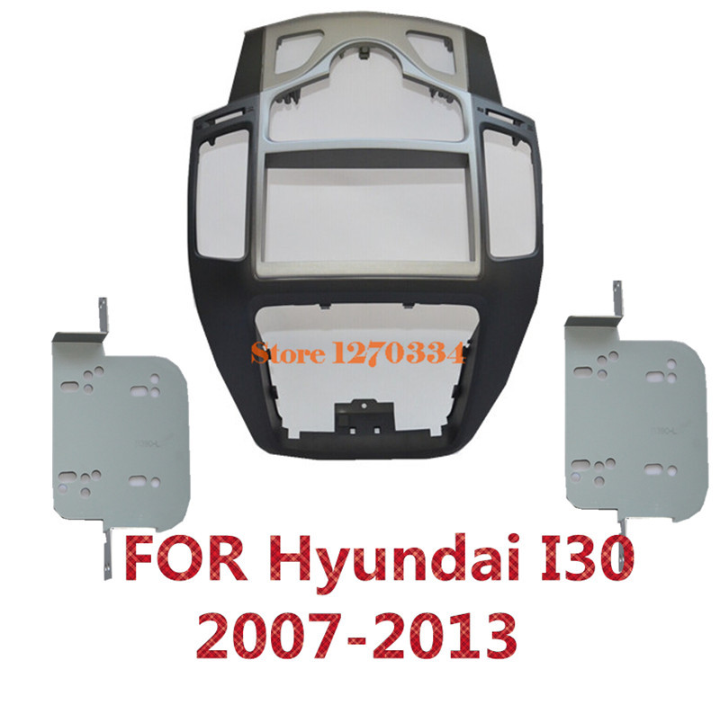 2 Din frame Kit / carro fascia / Car  Panel / Audio Panel Frame / Dash Kit For Hyundai I30 2007 2008 2009 2010 2011 2012 2013 ityaguy fascia for ford ranger 2011 stereo facia frame panel dash mount kit adapter trim
