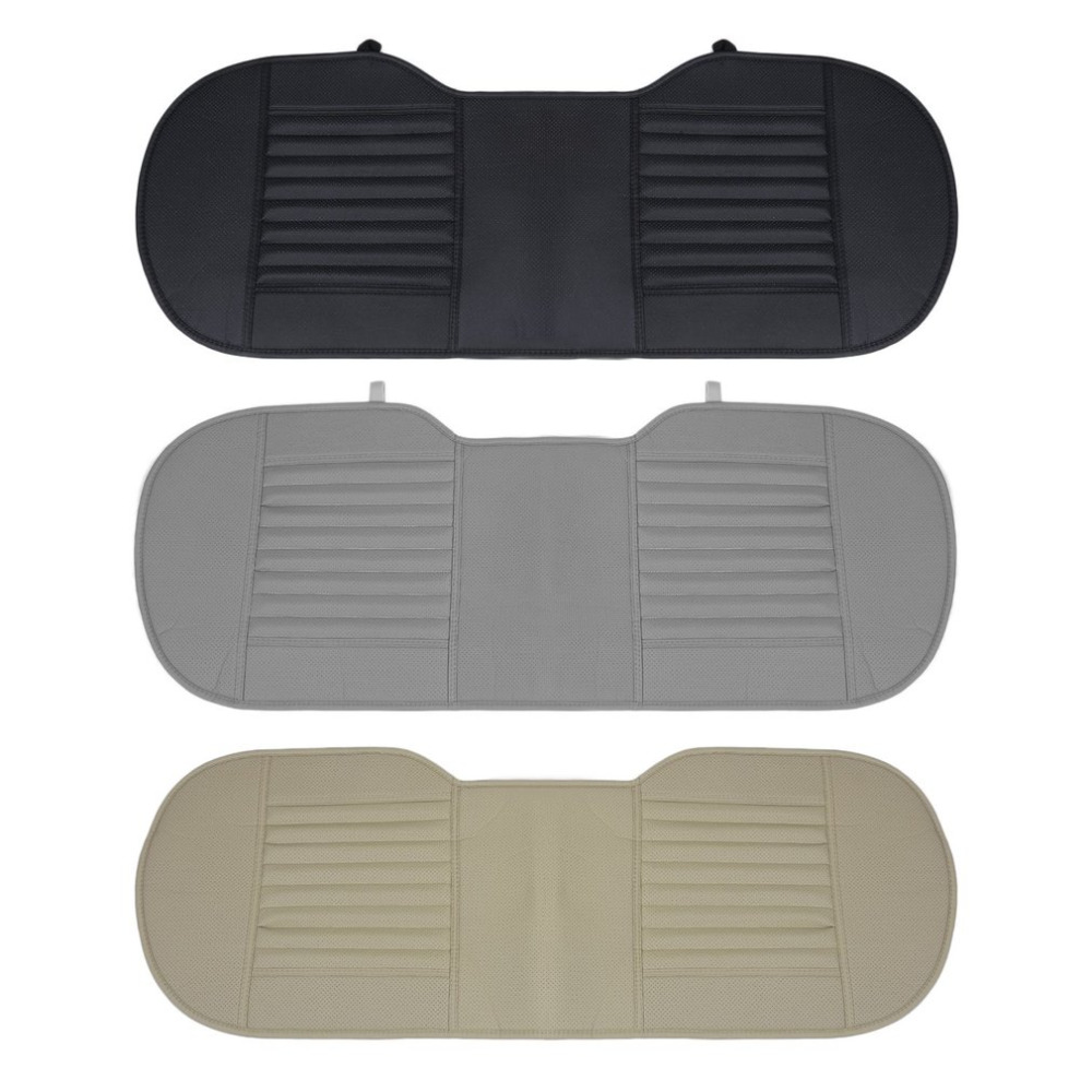 New Styling Car Seat Mat Charcoal Auto Double Back Seat Pad Breathable Anti-slip Synthetic Leather Car Rear Seat Cover Hot Sell