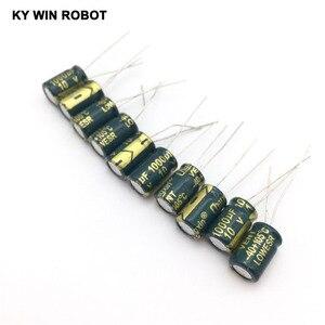 Image 2 - free shipping 50pcs Aluminum electrolytic capacitor 1000uF 10V 8*12 Electrolytic capacitor