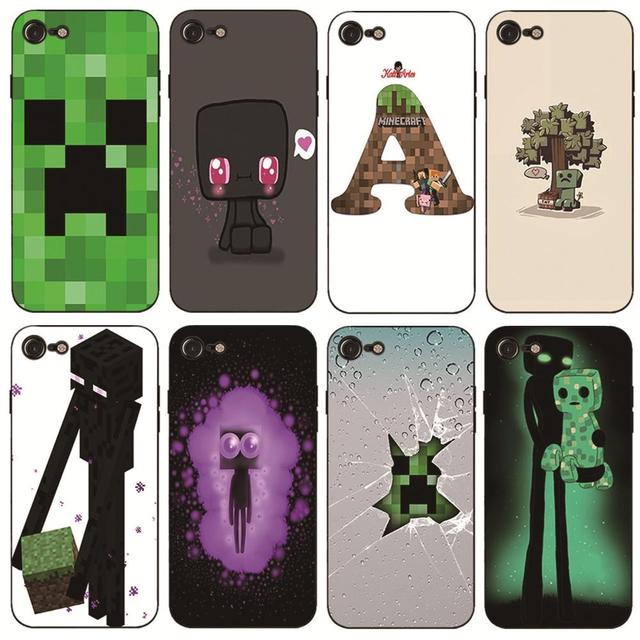 Minecraft Phone Case Cover For Iphone 6 7 8plus 4 4s 5 5c 6 6s 7 8 X