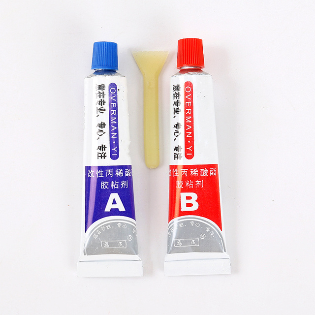 Hot Sale 2pcs(A+B) Modified Acrylic Glue AB Universal Adhesive for Metal Stationery Store Plastic UV Repair Tool
