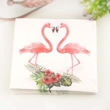 2packs 40pcs FOOD GRADE Flamingo theme Napkins Wedding Napkin Paper Wood Tissue for Party Decoration