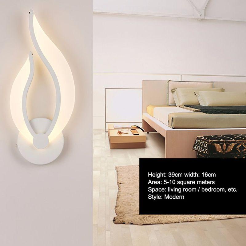 Modern Wall Lamp LED Light Acrylic Sconce 10W AC90-260V Flame Shape Indoor Bedroom Living Room Hallway Art Decoration