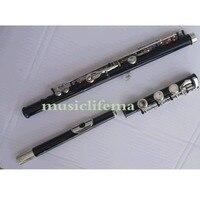Black 17 Open holes flute C key+E Great Metal Tone Tec