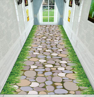 Printing 3D Carpet Cobblestone Rugs And Carpets For Home Living Room Area Rug Skidproof Kitchen Rug Custom Corridor Aisle Stair