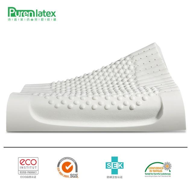 PurenLatex 60x40 Thailand Pure Natural Latex Pillow Remedial Neck Protect Vertebrae Health Care Orthopedic Pillow Slow Rebound 2