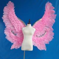 fashion show carnival secret prop cosplay yellow angel wing large pink feather wing