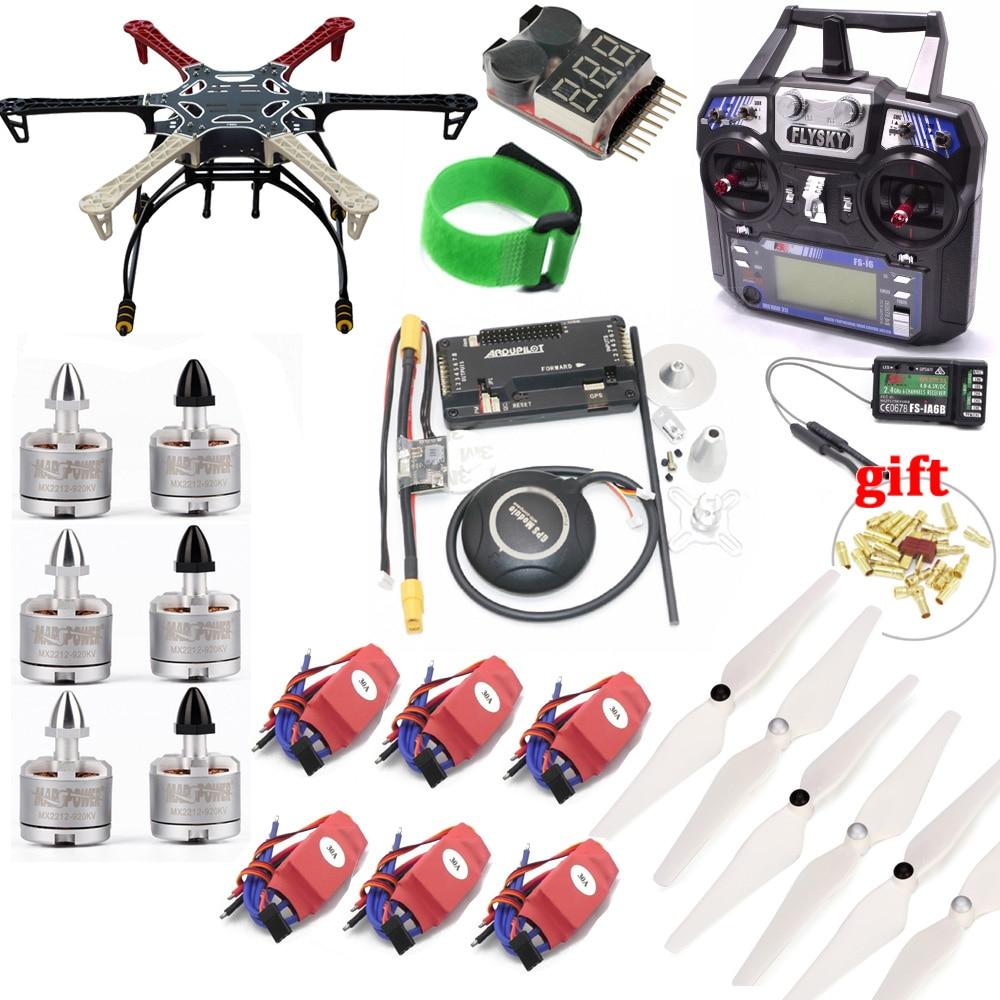 F550 quadcopter quadro kit com apm2.8 placa de controlador 7 m gps 2212 920kv cw/ccw 30a sichide esc flysky FS-i6 tx para rc quadcopter
