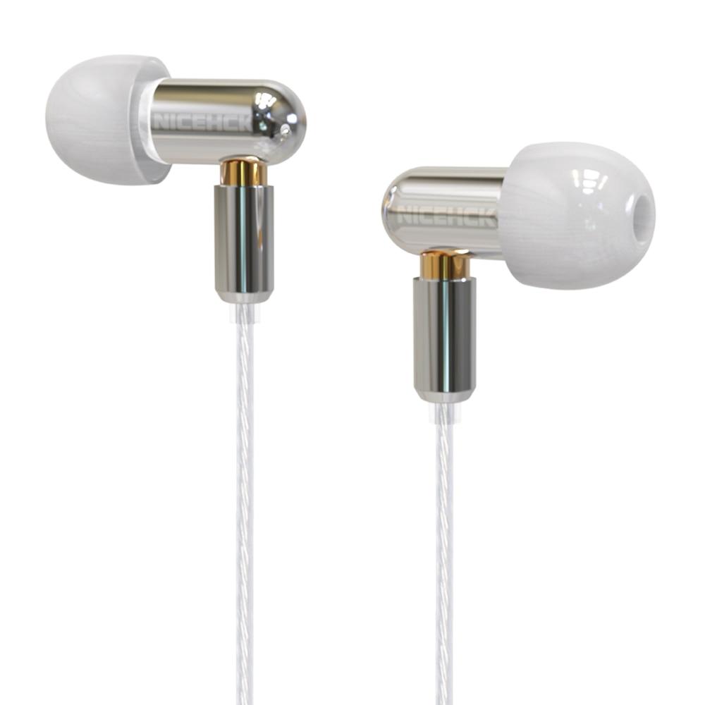 NICEHCK DT100 Single BA Drive In Ear Earphone Single Balanced Armature Detachable Detach MMCX Cable HIFI Metal Earphone