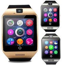 Do bluetooth Inteligente relógio Passometer Q18 Esporte Anti-perdida com Tela Sensível Ao Toque Câmera TF Cartão Smartwatch para Android pk DZ09 A1