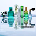 All Green Glass Perfume Bottles 7pcs/set Empty Container Refillable Portable Gift Perfume Bottle Free Shipping