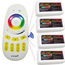 DC12V 24 В 2.4 Г Milight Wi-Fi Led РФ Пульт дистанционного управления + 4 шт. 4-зоны RGBW RGBWW RGB RGBW Led Контроллер для RGB Светодиодные Полосы Света