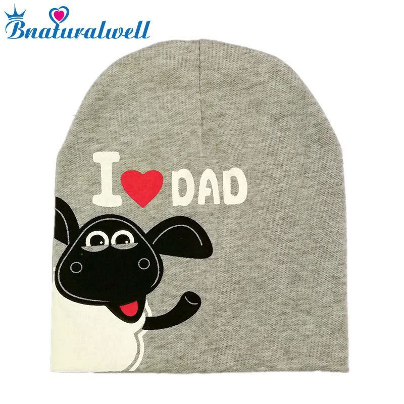 Bnaturalwell Sweet I Love Mama Dad Beenies Baby Girls boy Cartoon Beanie Toddler Skullcap Winter Hat Grey Skull Cap lovely toddler first walkers baby boys and girls cotton shoes soft bottom hook sneakers i love mom dad