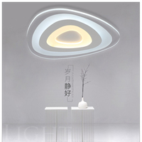 Modern Led Ceiling Lights Living Room Lights Acrylic Decorative Lampshade Kitchen Lamp Remote Control Without Pole