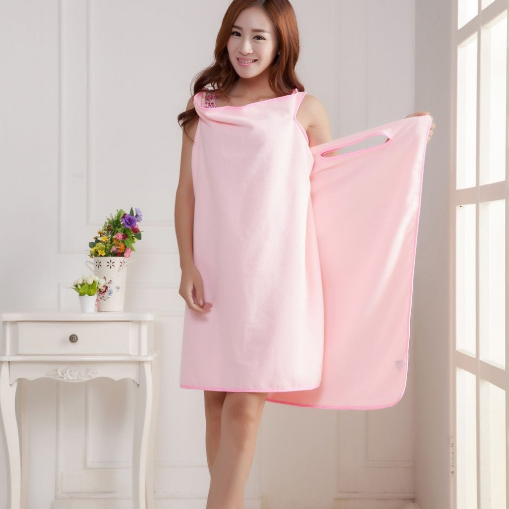 Quick-drying Thickening Microfiber Bath Robes Super Absorbent Wearable Bath Towel Home Beach Magic Towels For Adults Women